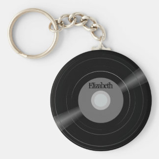 Vinylrekordnamen-Monogramm-Studenten-Geschenk Schlüsselanhänger