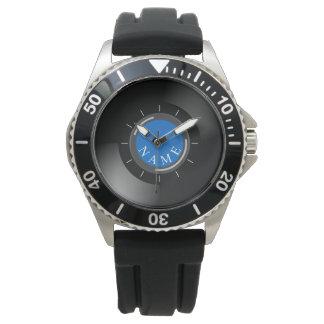 VINYLsatz | mit Monogramm oder Text Uhr