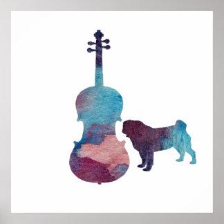 Viola-Mopskunst Poster