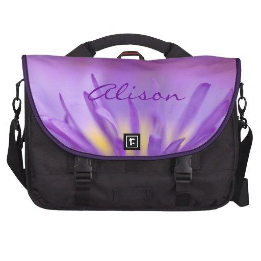Violet flower opening sacoche pour ordinateurs portables