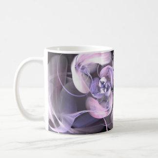 Violet Fractal Flower Mug Blanc