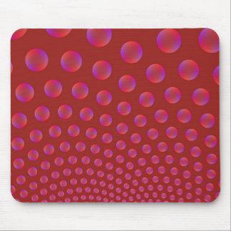 Violett und Rot sprudelt Mousepad