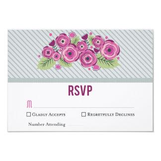 Violette Blumen-UAWG Karte 8,9 X 12,7 Cm Einladungskarte
