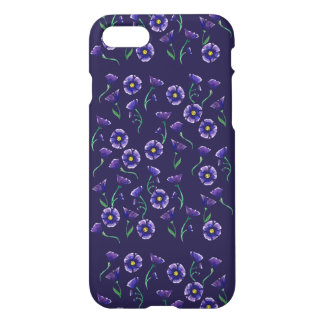 Violette lila Blume iPhone 7 Hülle
