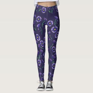 Violette lila Blume Leggings