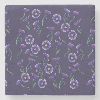 Violette lila Blume Steinuntersetzer