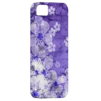 Violetter Blumenbeschaffenheitswandhintergrund 2 Etui Fürs iPhone 5