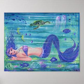 Violetter Fantasiemeerjungfrau-Plakatdruck Renee Poster