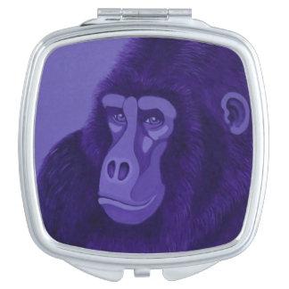 Violetter Gorilla-Vertrags-Spiegel Taschenspiegel