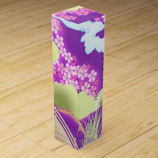 Violetter Kimono Wein-Geschenkverpackung