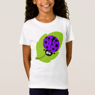 Violetter lila Marienkäfer T-Shirt