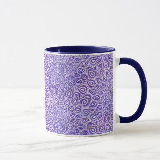 Violetter Lotos-Krone Chakra Mandala zwei tonte Tasse
