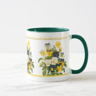 Violetter Pansy-botanische Tasse