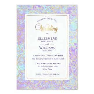 Violetter Schimmer-moderne Hochzeits-Einladung Karte