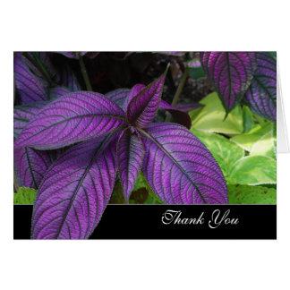 Violettes Blätter dankt Ihnen Karte