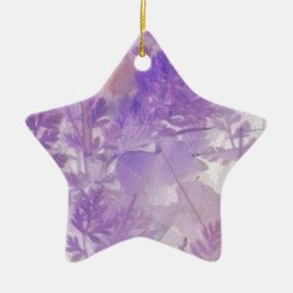 Violettes Blumen Keramik Ornament