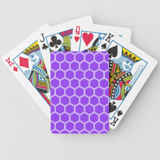 Violettes Hexagon 1 Pokerkarten
