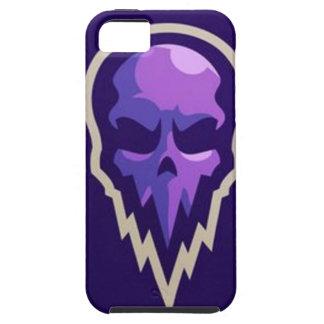 violettes lila Schädellogo des grafischen Entwurfs iPhone 5 Schutzhülle