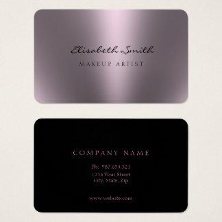 Violettes metallisches Blick-Doppeltes versah mit Visitenkarte