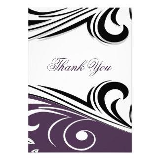 violettes Mod danken Ihnen zu kardieren Einladung
