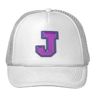 Violettes Monogramm des Buchstabe-J Retrokult Cap