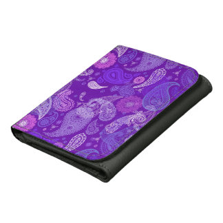 Violettes Paisley-Stoffmuster