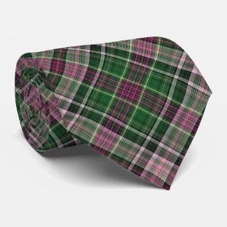 Violettes rotes und grünes diagonales kariertes individuelle krawatte