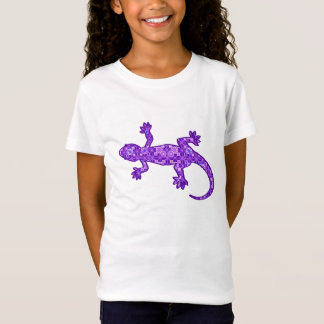Violettes und amethyst Lila Stammes- Batik Gecko - T-Shirt