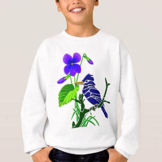 Violettes und blaues Jay Sweatshirt