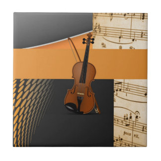 Violine in abstraktem kleine quadratische fliese