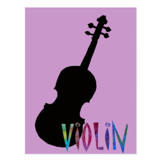 Violine mit toller Beschriftung Postkarte