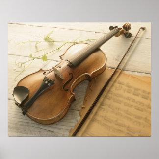 Violine und Noten Poster