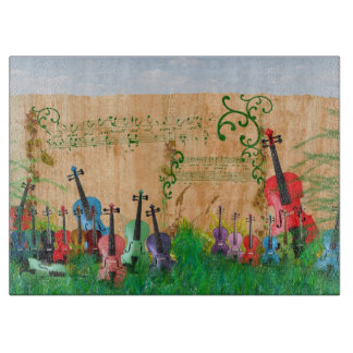 Violinen-Garten Schneidebrett