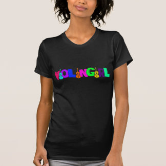 Violinen-Mädchen T-Shirt