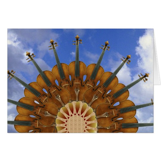 Violinen-Sonnenblume Grußkarte