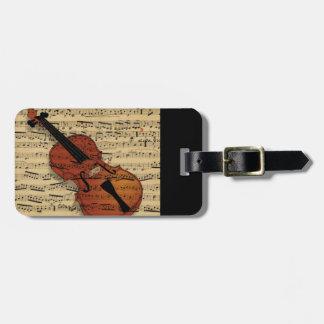 Violinen-Vintage Musik Gepäckanhänger
