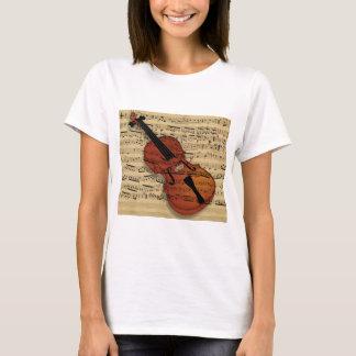 Violinen-Vintage Musik T-Shirt