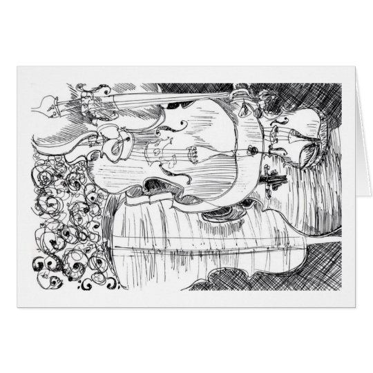 """""""Violini"""" - Debby Wang Grußkarte"""
