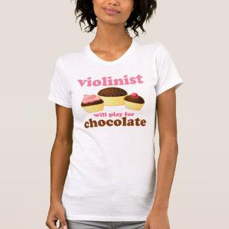 Violinist spielt für Schokolade T-Shirt