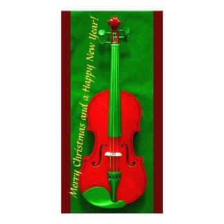 Violon de Noël Cartes De Vœux Avec Photo