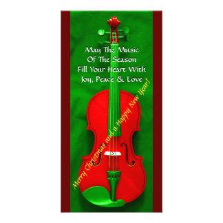Violon de Noël Photocarte Customisée