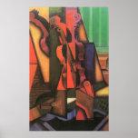 Violon et guitare par Juan Gris, cubisme vintage Affiche