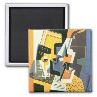 Violon et verre par Juan Gris cubisme vintage