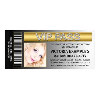 VIP führen Karten-Art-Geburtstags-Party 10,2 X 23,5 Cm Einladungskarte
