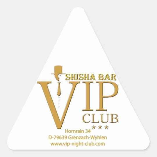 VIP Shisha Fanartikel Dreieckiger Aufkleber