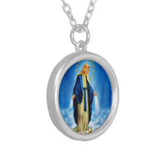 Virgen de la Milagrosa Necklace Versilberte Kette