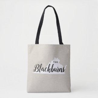 Virginia-Familien-Monogramm-Staats-Taschen-Tasche Tasche