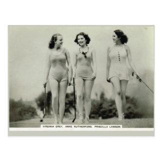 Virginia-Grau, AnneRutherford, Priscilla Lawson Postkarte