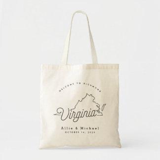 Virginia-Hochzeits-Willkommens-Taschen-Tasche Tragetasche