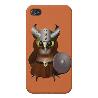 """Virginia-Uhu-"" Viking-Sturzhelm-Eule iPhone 4/4S Cover"